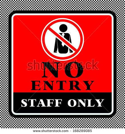 Free Address Search Only No Entry Staff Only Stock Vector Illustration 168289085
