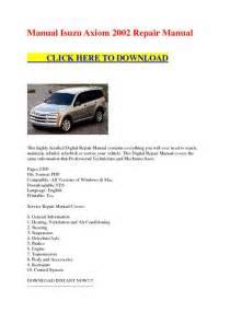 manual isuzu axiom 2002 repair manual service manual