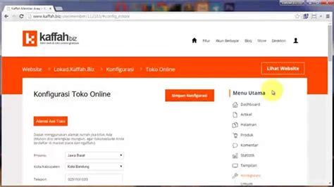 you tube membuat toko online gratis cara membuat website gratis dan toko online gratis