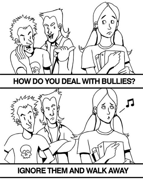 Free Coloring Pages Of Children Bully Bullying Coloring Pages