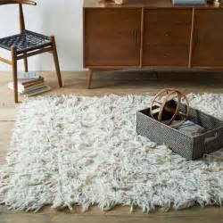 Shag Living Room Rug by Chevron Wool Shag Rug West Elm