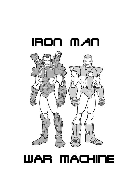 m iron man war machine coloring coloring pages