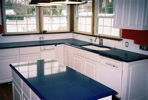blue quartz countertops design with blue