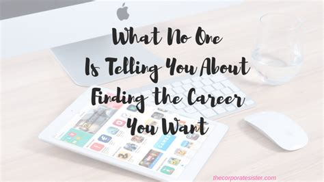 What No One Is Telling You by What No One Is Telling You About Finding The Career You