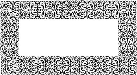 Decorative Borders by Free Illustration Ornate Decorative Border Frame