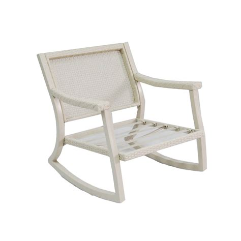 Allen And Roth Patio Chairs Shop Allen Roth Netley White Steel Patio Conversation Chair At Lowes