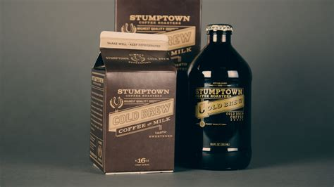Cold Brew Coffee With Milk stumptown coffee roasters cold brew coffee with milk the dieline package design resource