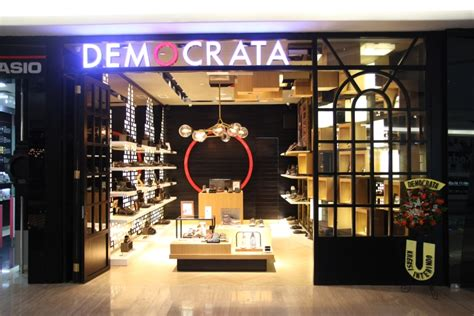 Store Jakarta retail design democrata shoe store at plaza indonesia by acrd