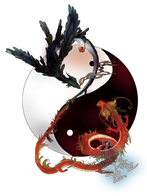 yin yang tattoo designs for men yin yang dragons design for