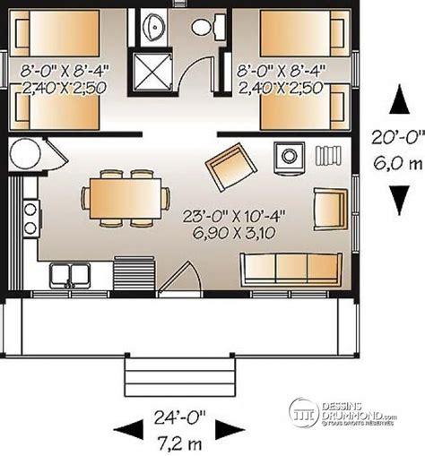 small vacation home floor plans d 233 du plan de maison unifamiliale w1904