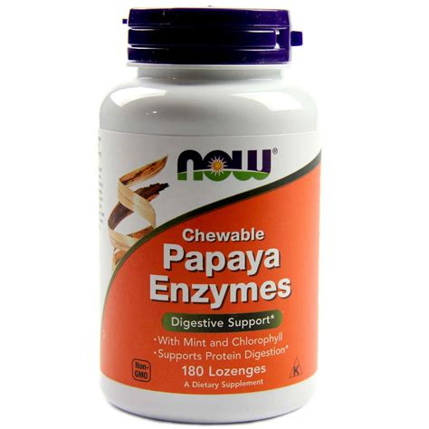 Now Enzyme Detox by Buy Now Foods Papaya Enzyme Chewable 180 Lozenges