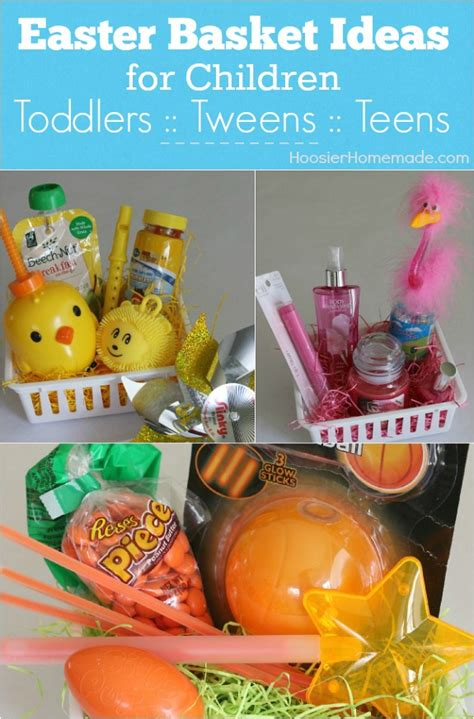 ideas for pictures easter basket ideas for children hoosier homemade