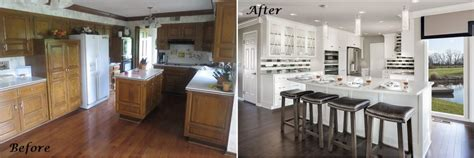 home design before and after dated kitchen gets modern makeover a design connection inc featured project