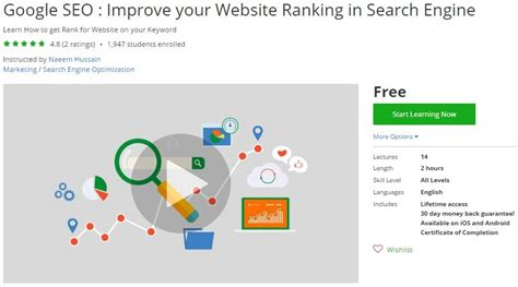 Best Free Address Search Engine Udemy Coupon Seo Improve Your Website Ranking In Search Engine Free