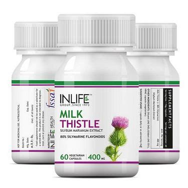 Liver Detox Supplement Milk Thistle by Buy Inlife Milk Thistle Liver Cleanse Detox Support