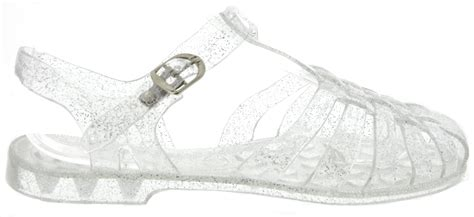 clear jelly sandals wandering souls jelly sandals in clear glitter