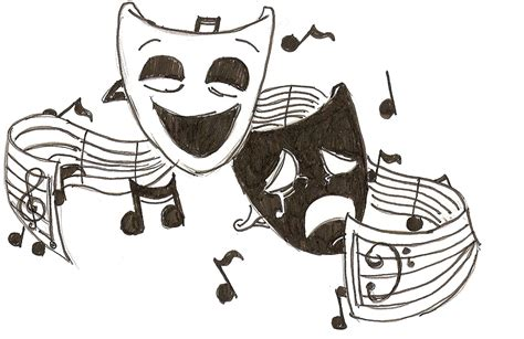 music drama music clipart musical theatre pencil and in color music