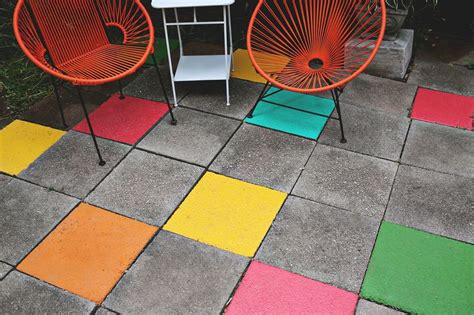 elsie s painted patio tiles a beautiful mess
