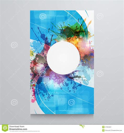 abstract background template poster with watercolor paint