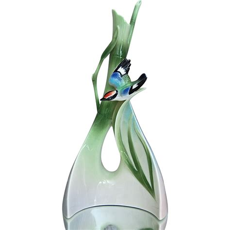 franz vase franz collection quot bamboo song bird quot triangle vase from