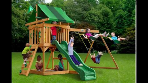 canopy for wooden swing set exterior gorilla playsets cadence swing set with green
