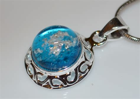 cremation jewelry ash necklace ashes fused by