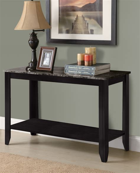 grey sofa black table 3131 black grey sofa console table from monarch i 3131
