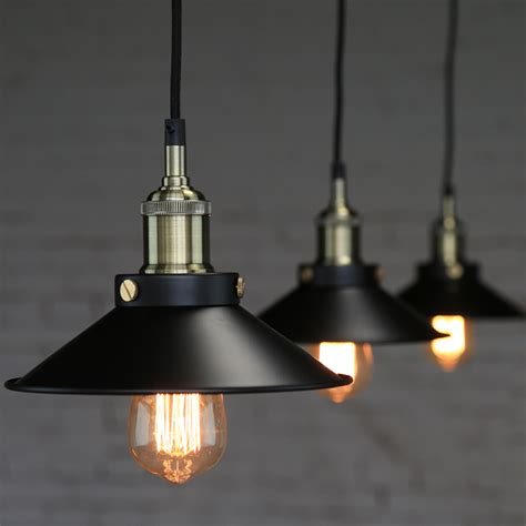 Factory Pendant Light Industrial Factory Style Pendant Light Vintage Pendant L Restaurant Black Umbrella Nordic