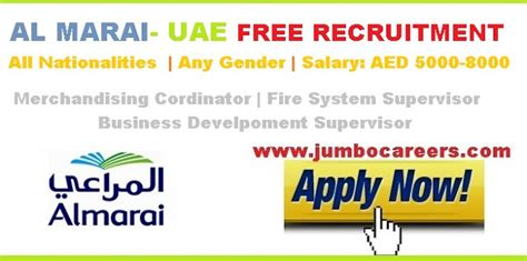 Salaries After Mba In Dubai by Al Marai Uae 2018 Free Recruitment Jumbo