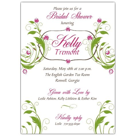Floral Bridal Shower Invitations by Floral Bliss Bridal Shower Invitations Paperstyle