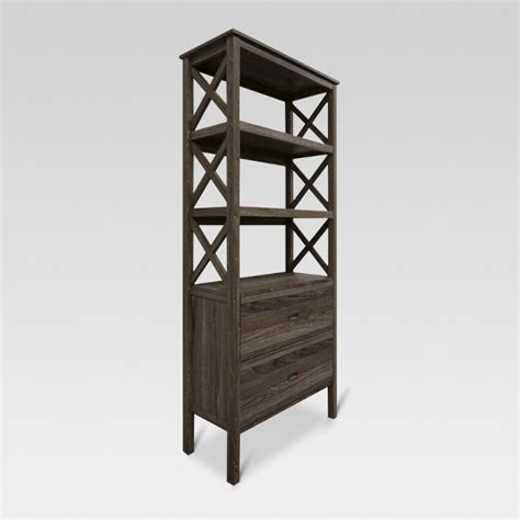 target 3 shelf bookcase 3 shelf x bookcase with drawers gray threshold target