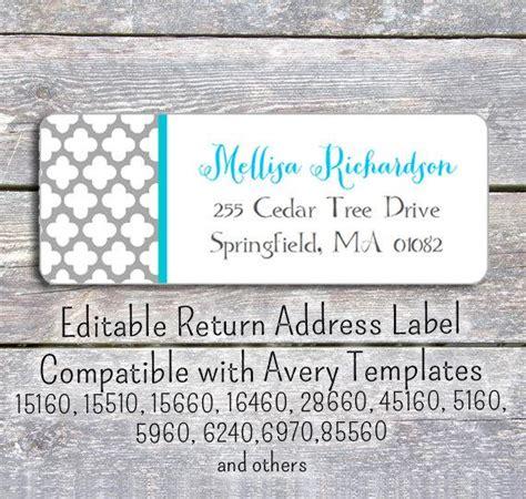 Editable Diy Printable Pdf Template Return Address Labels Return Address Template