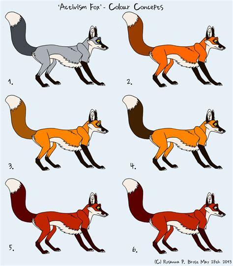 colors of foxes activism fox colour concepts by falcolf on deviantart