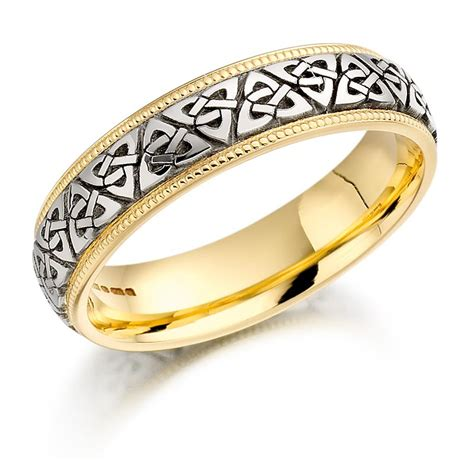celtic knot beaded wedding band at irishshop