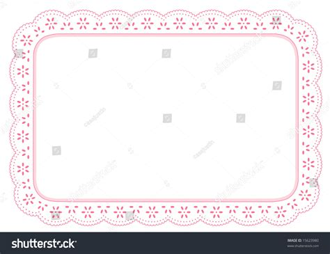 Table Borders by Lace Doily Place Mat Eyelet Border Design Pastel Pink