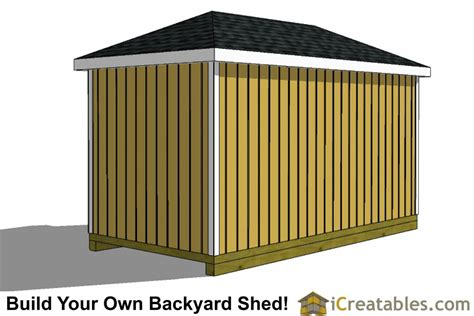 Hip Roof Garden Shed Plans 8x16 Hip Roof Shed Plans