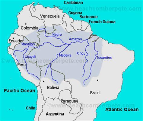 amazon river map amazon river south america map of amazon river