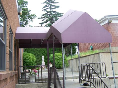 walkway awnings entrance walkway canopies gallery l f pease company
