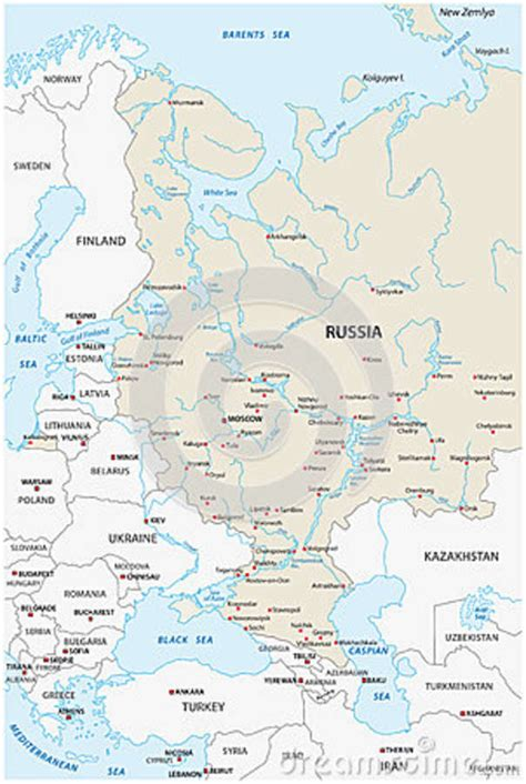 russia map european part european russia map stock illustration image 68615291
