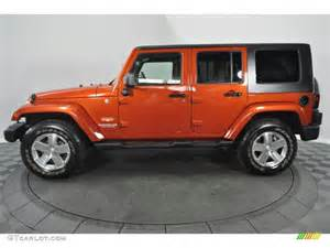 Jeep Orange Sunburst Orange Pearl 2009 Jeep Wrangler Unlimited