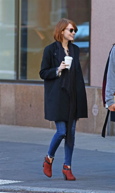 emma stone outfits emma stone street style out in new york city october 2014