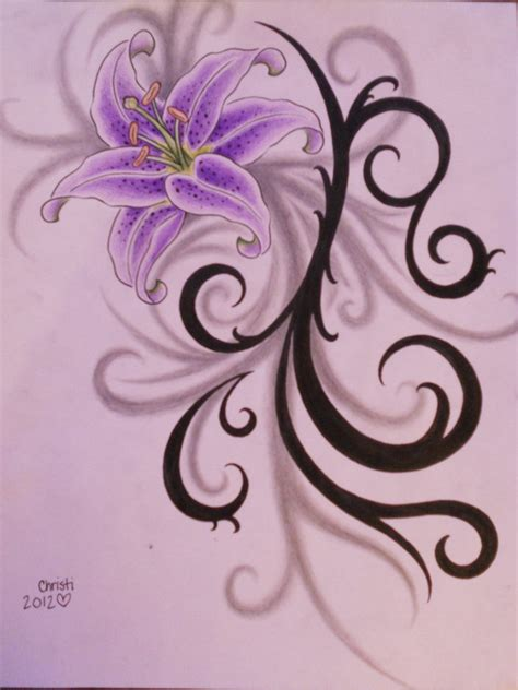 lily tribal tattoo designs creative designs artist