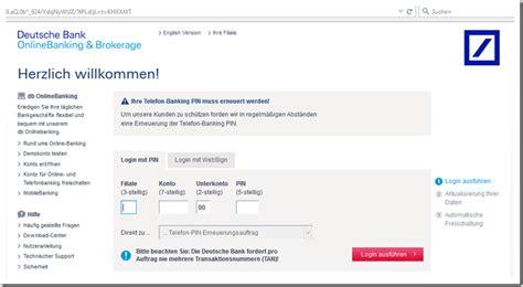 deutsche bank kontostand abfragen internetbetr 252 ger geben sich als deutsche bank aus