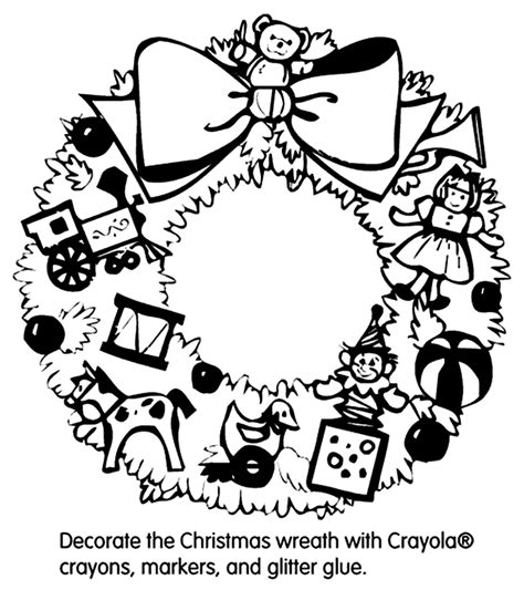 coloring pages christmas crayola christmas wreath crayola com au