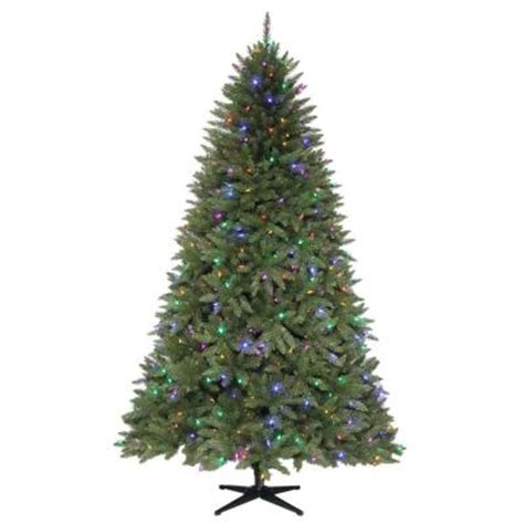 martha stewart living 7 5 ft pre lit dual led matthew fir