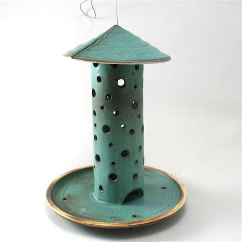 Bird Feeder Ceramic ceramic bird feeder by cheryl wolff garden contemporary bird feeders by etsy
