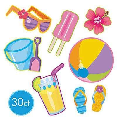 1 Set Roku Summer Cut summer assortment cutouts australia s 1 decorations