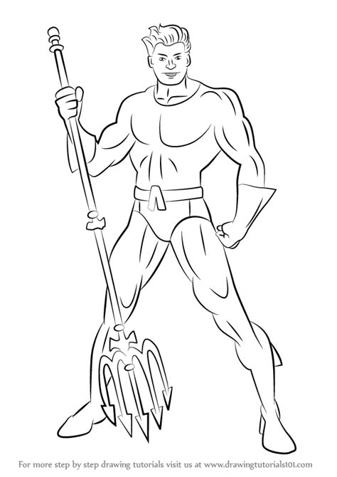 Step by Step How to Draw Aquaman : DrawingTutorials101.com