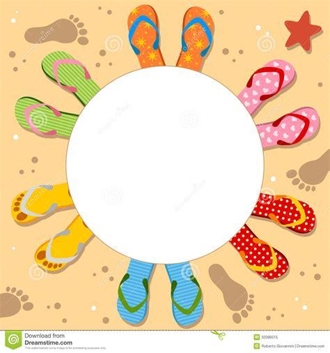 flip flops photo frame stock vector image 32086515