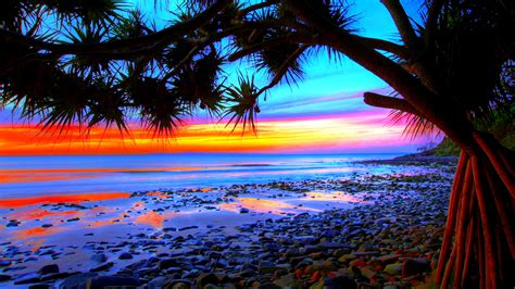 wallpapers beach colorful colorful beach sunsets wallpaper free desktop i hd images
